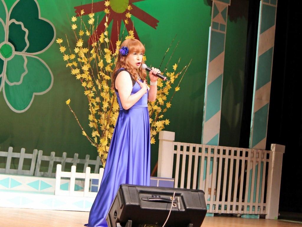 青紫ロングドレス舞台(9)