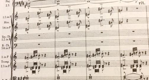 楽譜 ブルックナー 第9番の第3楽章 十字架ではないか