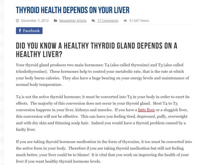 甲状腺機能は肝臓の健康状態にかかっている