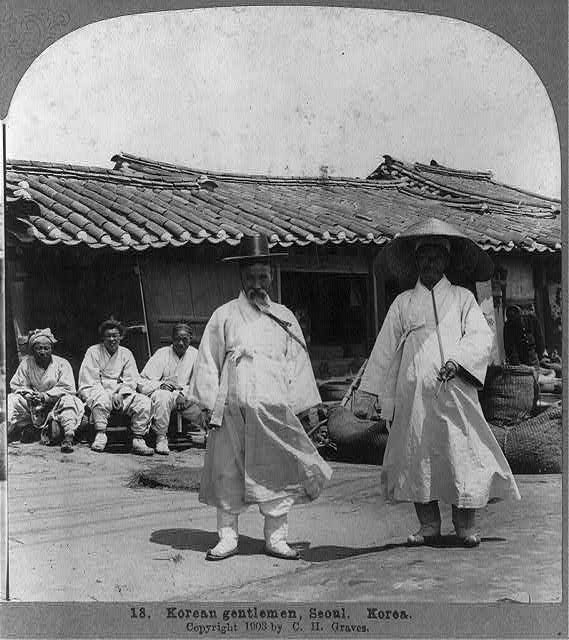 1903年 漢城(ソウル)両班の男性