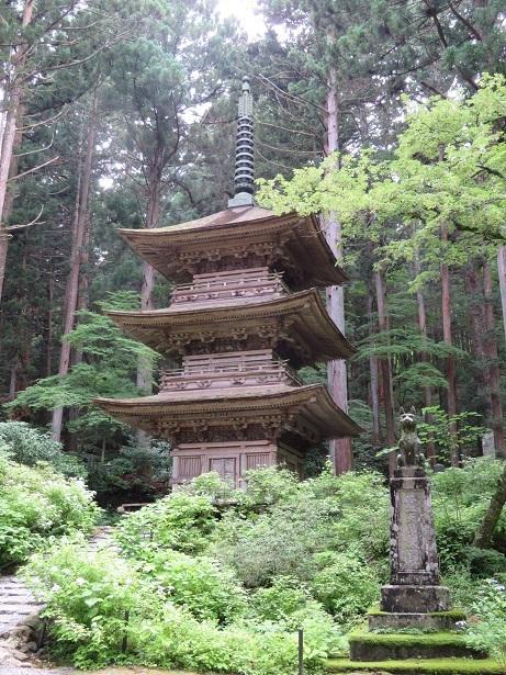 光前寺 三重塔