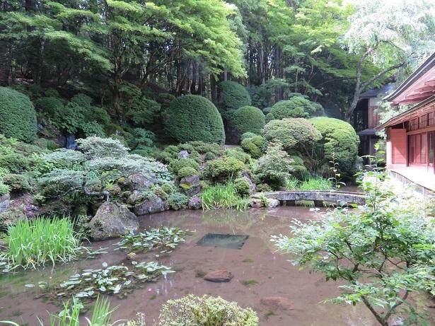 光前寺 客殿の庭園
