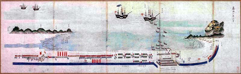 嘉永六年六月久里浜陳営の図