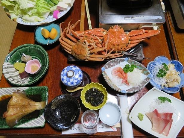 浦富海岸民宿の夕食