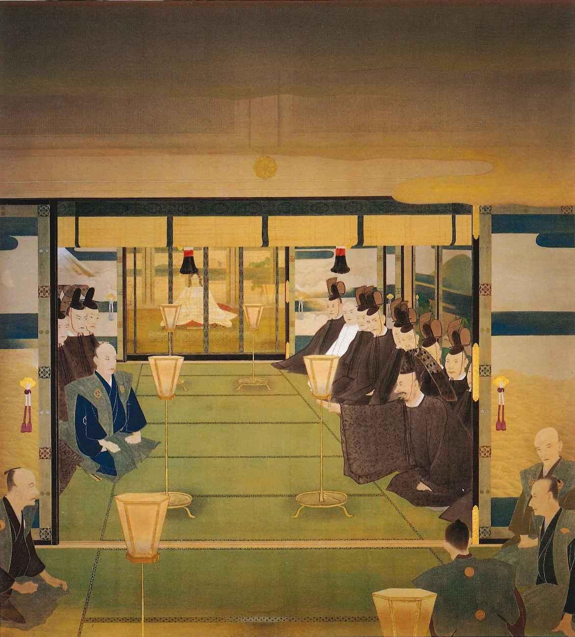 聖徳記念絵画館壁画「王政復古」(島田墨仙画)