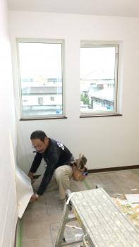 クロス工事 (2)