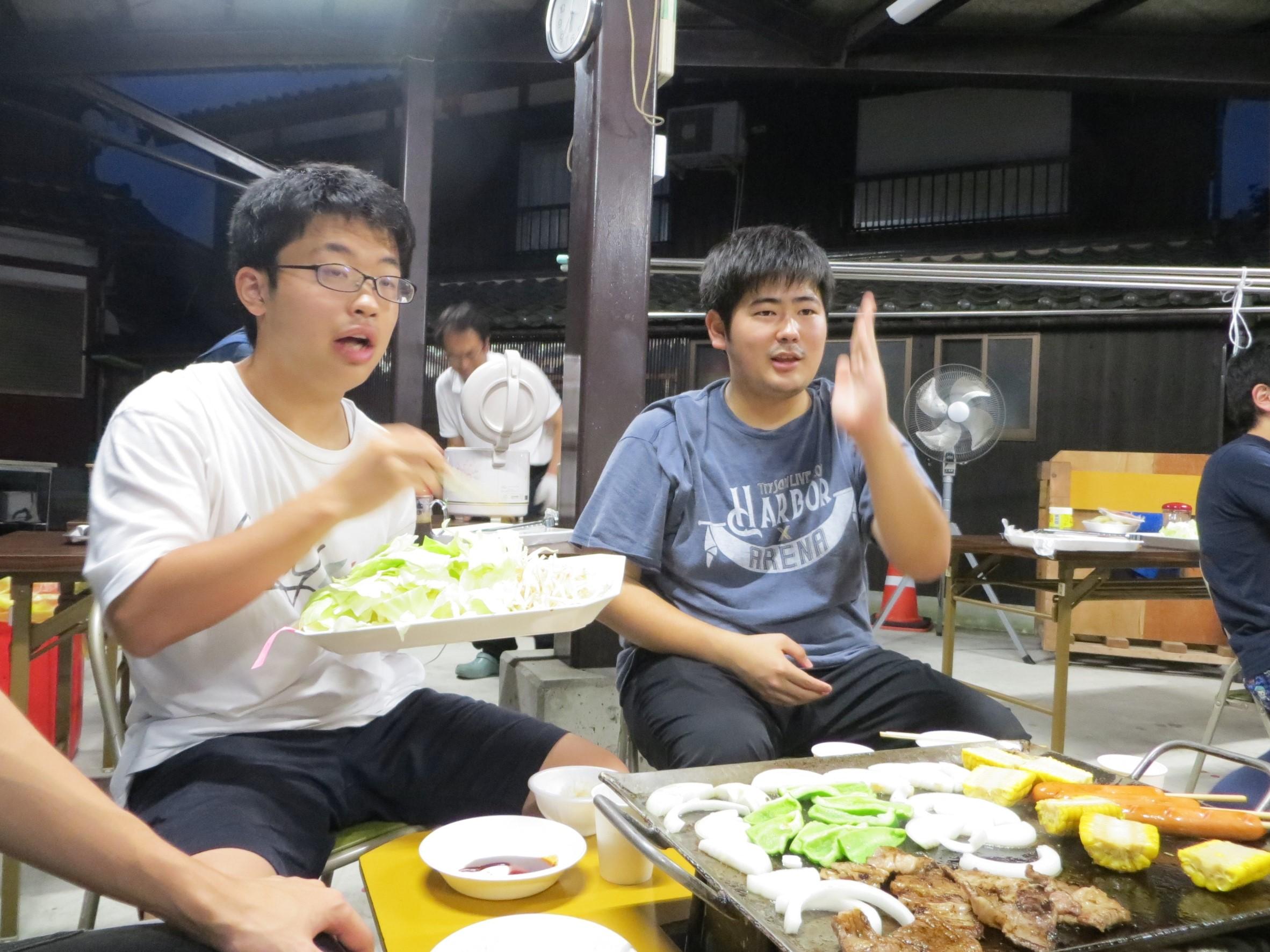 夕食2(2017夏合宿)