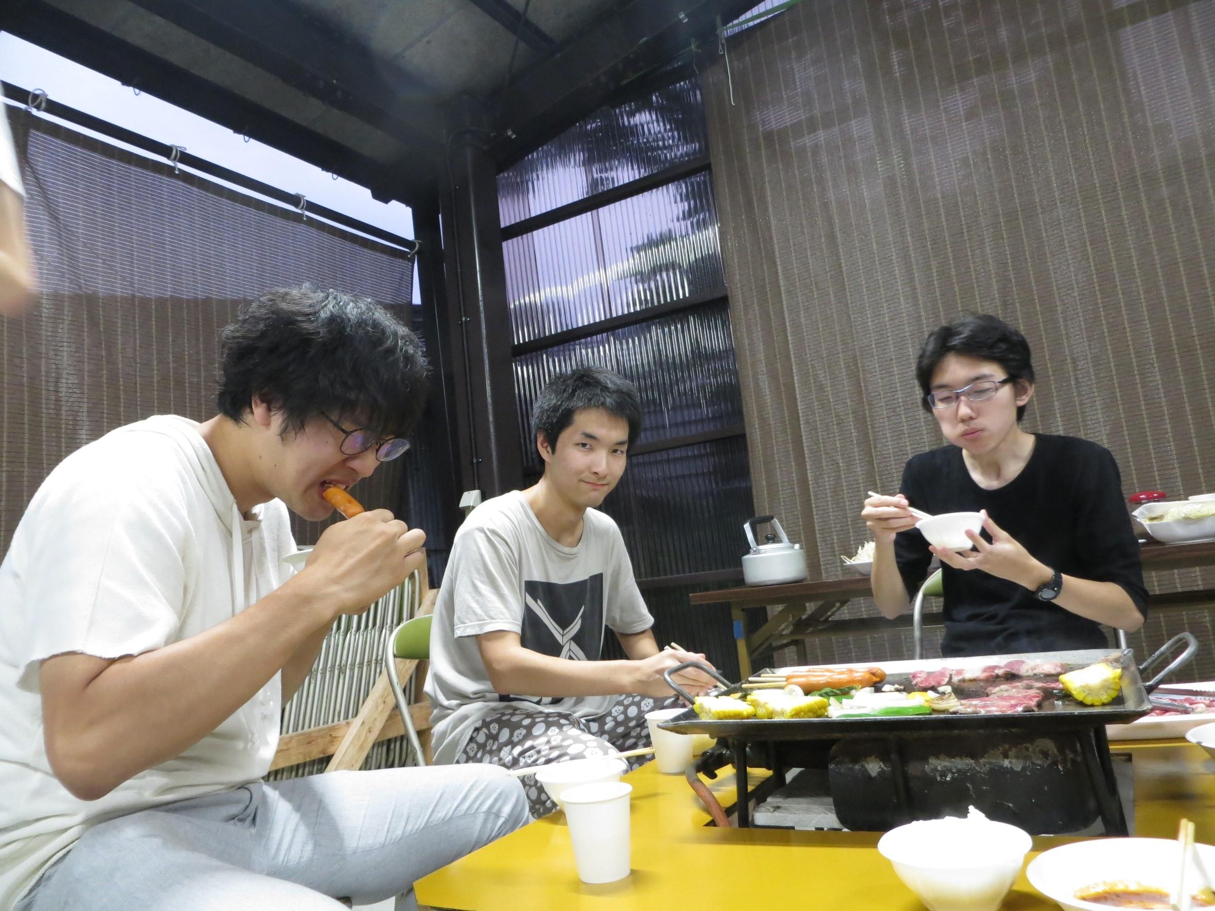 夕食1(2017夏合宿)