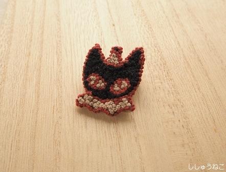 黒猫ブローチ