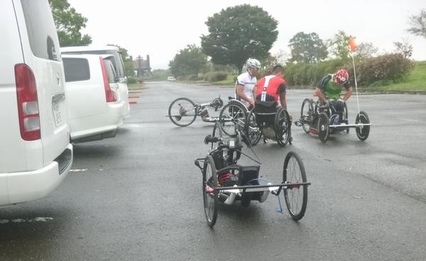 渡良瀬遊水地 ハンドバイク