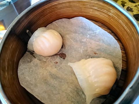 海老入り蒸し餃子@香港海鮮飲茶樓