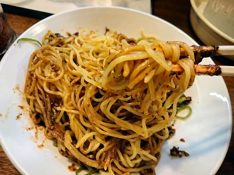 汁なし担々麺リフティング@尾道文化ラーメン