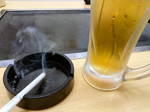 生ビール@お好み焼よしだ