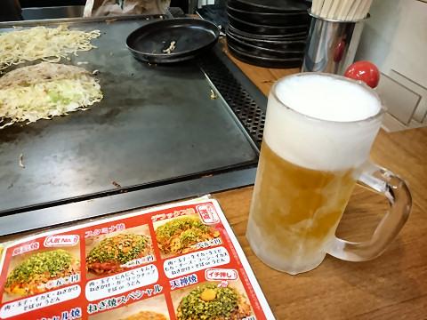 生ビール@広島焼厳島