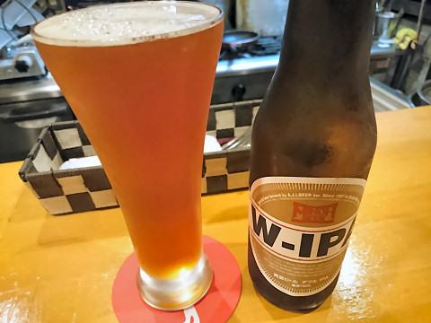 箕面ビール・W-IPA@ビストロバール・マータ