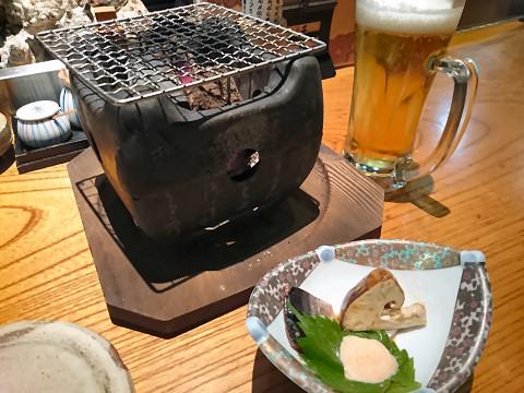 生ビール+突出し@豆助