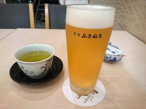 生ビール(中)@赤坂ふきぬき