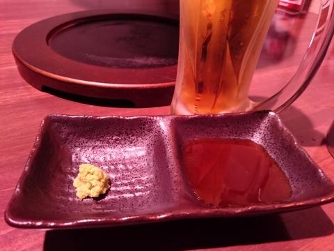 焼肉のタレ・わさび@焼肉ハヌル
