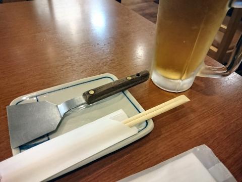生ビール@広島焼ののすけ