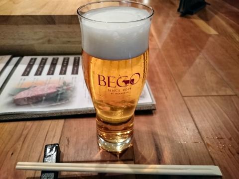 生ビール(ヱビス)@肉炉ばたBECO