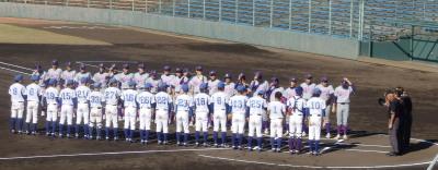 PB074777一塁側佛教大学 三塁側福山平成大学