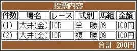 20171229 大井10R 東京大賞典(G1) サンドプラチナ