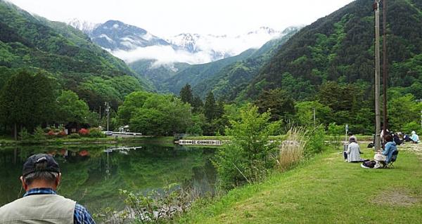 信州駒が池水彩スケッチ3