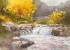 水彩講座渓流