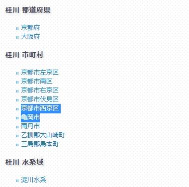 桂川含む都市名