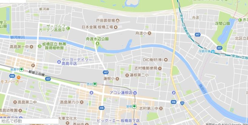 新河岸川と隅田川