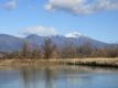 浅間山とため池