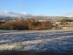 西の畑の雪