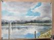 ため池の雲