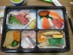 お昼の寿司弁当