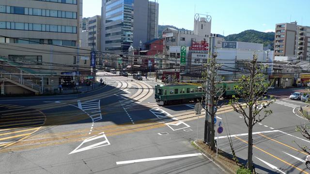 びわ湖浜大津駅の交差点