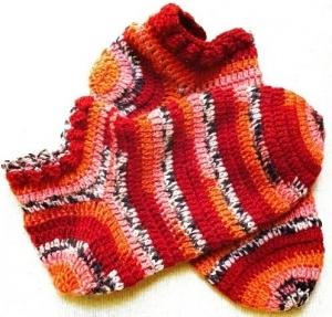 かぎ針編みのショートソックス