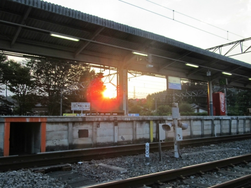 20161011・鉄写2位・夕陽の横瀬駅