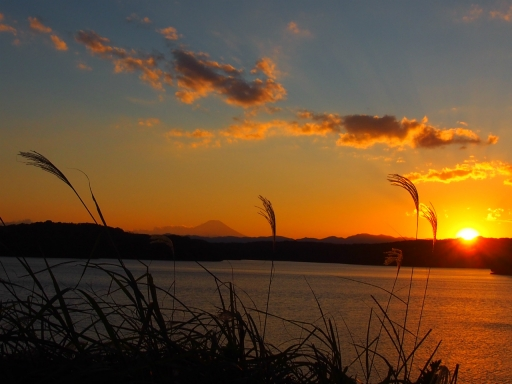 20161103・夕焼け狭山湖