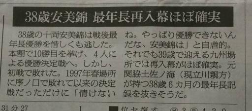 20170925・大相撲15・安美錦幕内昇進・中