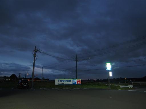 20171023・台風東北旅行夕空24・ファミリーマート