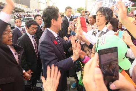 「安陪晋三総理大臣街頭演説」⑧