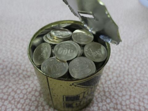 「10万円が貯まる缶カンを開けてみた!」③