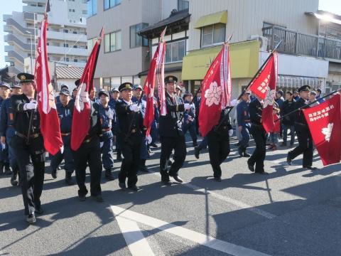 「石岡市消防出初式」パレード&式典 (13)