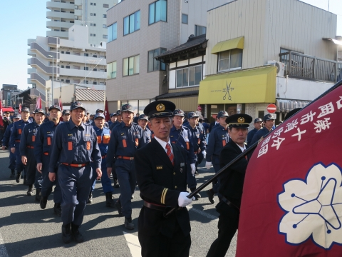 「石岡市消防出初式」パレード&式典 (14)