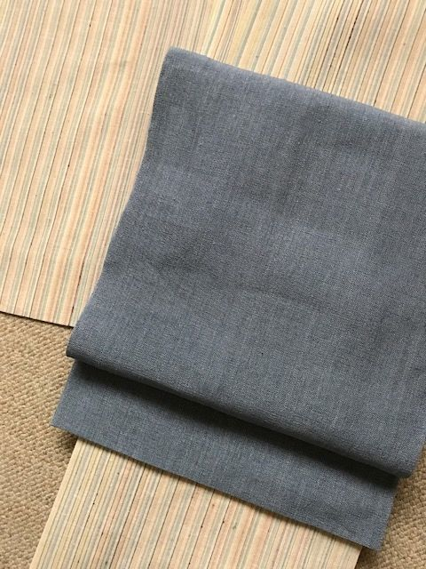 泉駒生布に越後上布帯