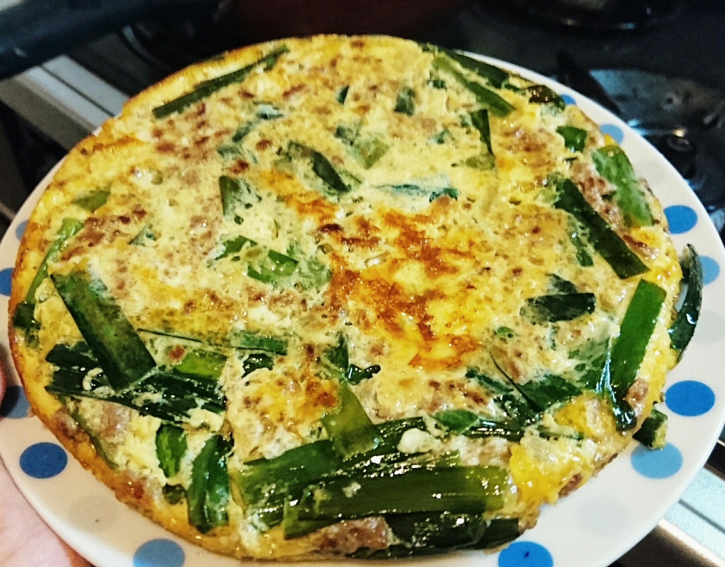 ニラとひき肉の贅沢卵焼き【 糖質3.3g 】