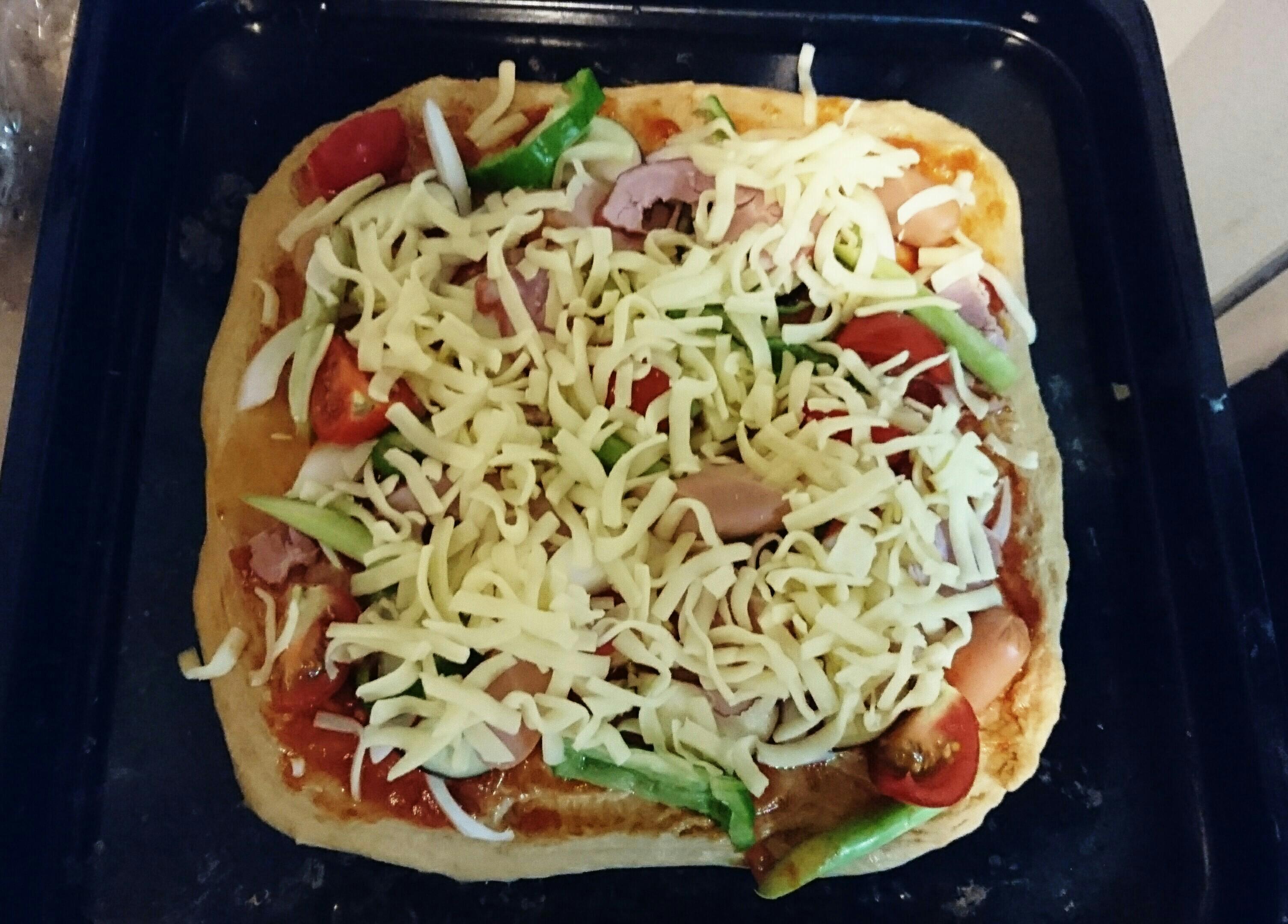 ふすま粉で糖質制限ピザ【 ピザ1枚糖質16g/ピザパンなら1個4g】糖質制限中でも気軽に食べれるピザ♡