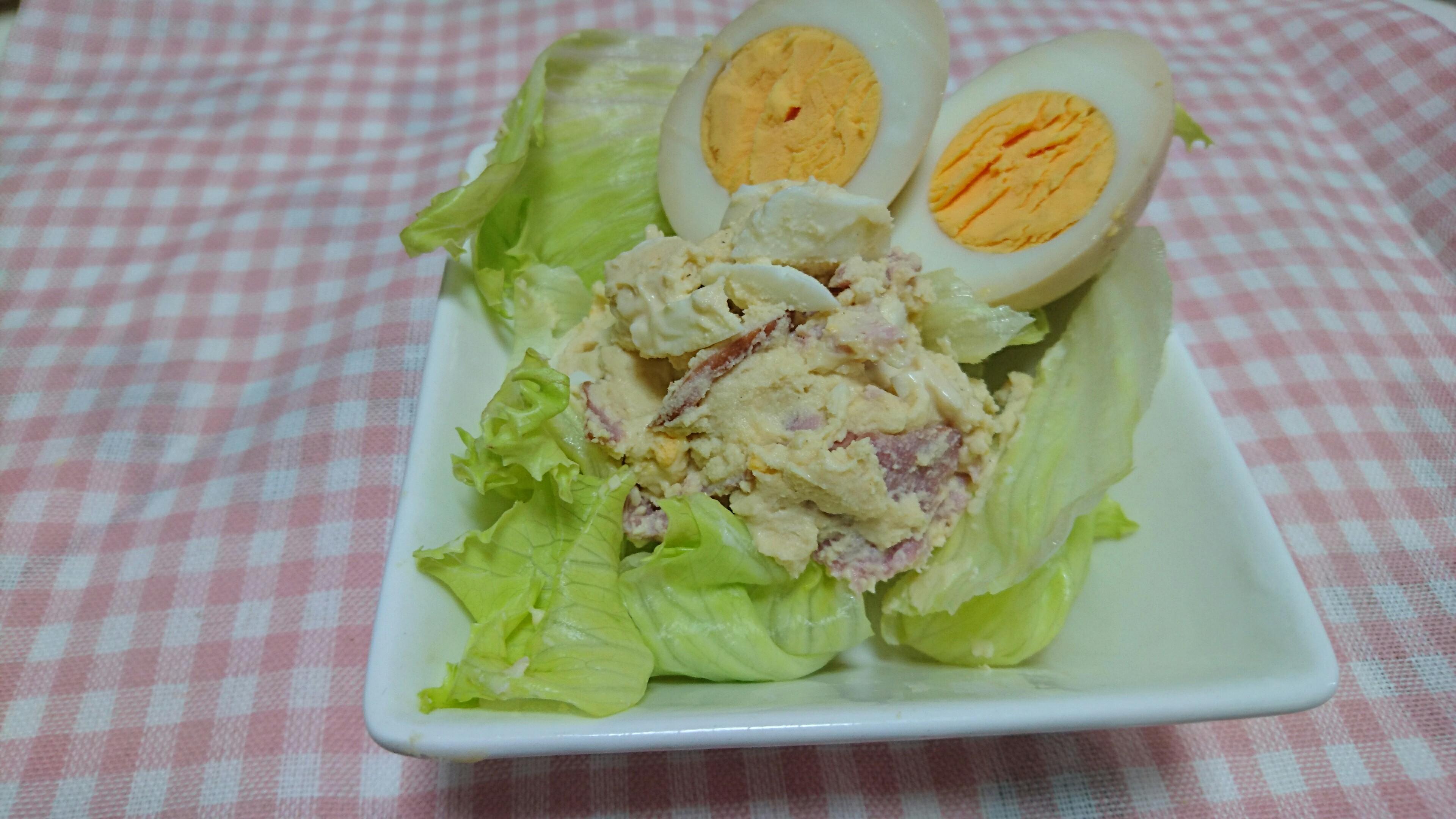 おからパウダーでポテトサラダ【 糖質4.5g/一人前1.5g 】