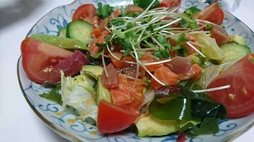 お刺身サラダのドレッシング【1人前約糖質1.6g(ドレッシングのみ)】