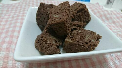 レンジですぐできるおから蒸しパンココア味【糖質4.3g(2~4人分)】ケーキみたい♡